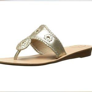 Jack Rogers Women's Gold Capri Sandal